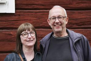 Harriet Green och Ulf Olsson njöt av en fin sommarkväll.