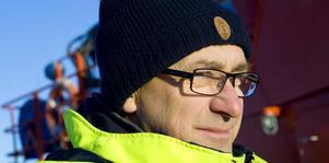 Båtman Pierre Sundberg vid Sjöfartsverkets lotsstation i Ljusne.