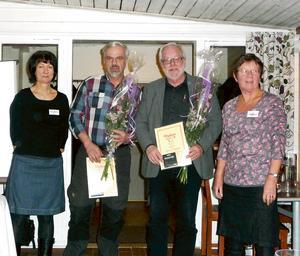 Från vänster: Britt-Marie Hedlund, Håkan Rahbek, Bernt-Erik Rutström och Monika Karlström. Bild: Gitte Johansson.