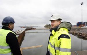 Gävle Hamns tekniske chef Jonas Rahm var en av flera som presenterade planerna för besökare från hela Norden.