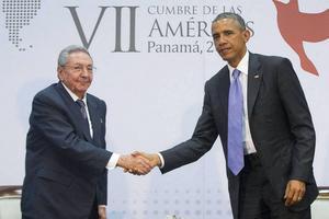 Castro och Obama.