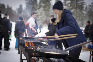 Under vinterveckan i Los är det inte bara Hälsingar som är på besök, det kommer många utifrån för att vara med på aktiviteterna.