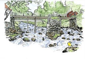Så här kan det komma att se ut när dammen och dammluckorna rivits bort, i alla fall enligt de skisser som finns med i utredningen som nu är klar.