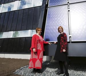 Högskolan Dalarnas förra rektor, Agneta Stark, förevisade 2010 det nya, dyra laboratoriet i Borlänge för sin efterträdare Marita Hilliges.