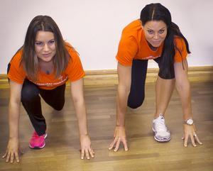 Jessica Söderberg coachas av inspiratören Sabina Dufberg från Biggest Loser.