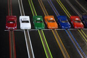Den 48 meter långa bilbanan på Multi Challenge är den största i Sverige.