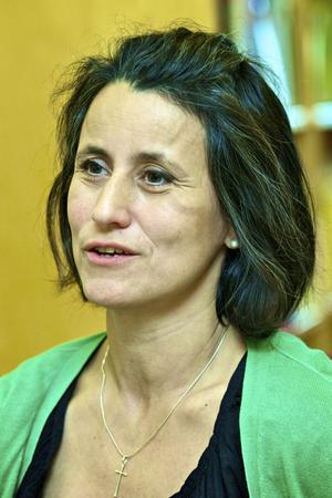 Carla Dahlberg, spanska- och idrottslärare, är den som startade Gruvrisskolans pantinsamling.