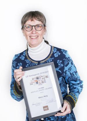 Maisy Borg på Leksands gymnasium blev årets UF-lärare.