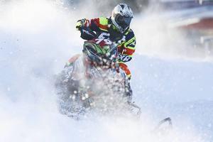 Emilia Dahlgren, här vid årets första tävling Arctic Cat Cup i Östersund.