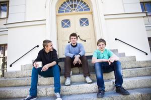 Tufft och jobbigt. Så beskrivs årets sommarskola av från vänster: Jocke Hansson, Pontus Larsson och Anton Edman.