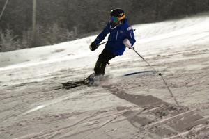 Tanken var att de skulle köra storslalom under onsdagen men på grund av förutsättningarna blev det blott slalom.