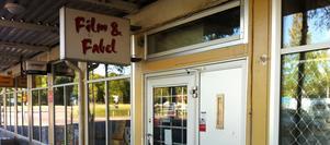 Det var den här videobutiken som rånades i Borlänge vid 21-tiden på onsdagskvällen. Foto: Johnny Fredborg
