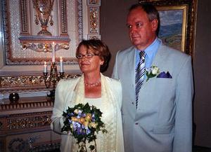 Gunnel Alderäng och Bo Westergren,Sundsvall, har den 26 augusti vigts i Hedbergska huset, Sundsvall. Vigselförrättare var Björn Norell. Bruden tar namnet Westergren.Foto: Linda Norman