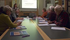 Det var fullsatt på Trosavik när Agneta Brink pratade om forskning kring gårdar.
