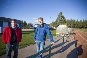 Nye tränaren Jonas Höglund och sportchefen Anders Hallberg hoppas och tror på ett lyft för Iggesund.