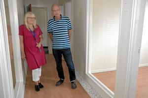 Planer. Susanne Karlsson och Sture Johansson i de ännu tomma lokalerna på Sturepalatsets nedervåning.