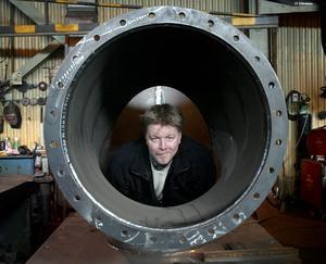 Ny produktion. Tommy Andersson i Söderbärke har full snurr på den nya turbintillverkningen.