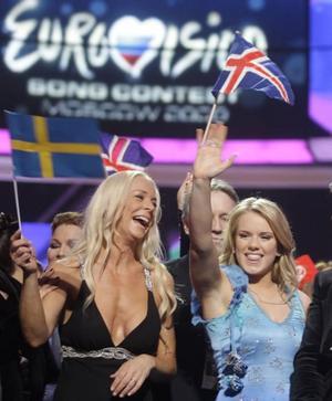 Heja, Sverige – och Island! Ja, hur ska det gå för Malena      Ernman och Yohanna i kvällens final i Moskva.Två starka låtar som rentav kan vinna, eller? FOtO: SERGEJ PONOMAREV/AP/SCANPIX