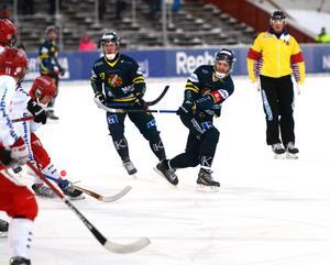 Faluns Emanuel Sundqvist stod för tre målgivande passningar.