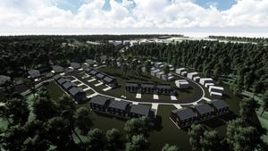 Så här ska en del av den nya stadsdelen se ut.