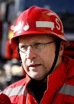Håkan Samuelsson, deltidsansvarig på Medelpads Räddningstjänstförbund.