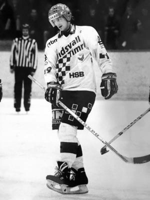 Patrik Hållander i Sundsvall Timrå Hockey säsongen 1991/92.