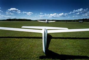 Segelflyg på Johannisbergs flygplats. Arkivbild.