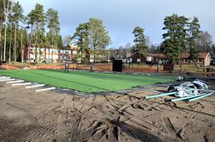 Spontanidrottsplats. Kommunens första anläggning blir vid Mullhyttans skola.