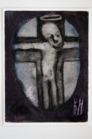 I början av 80-talet drabbades Berta Hansson av en kraftig synnedsättning: Med hjälp av en kraftig lampa och förstoringsglas målade hon, varje dag, små akvareller med bibliska motiv-
