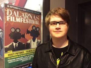 Robin Lindkvist är festivalgeneral för Dalarnas filmfestival som går av stapeln i morgon.
