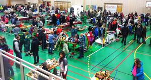 Familjemarknaden i Sälenhallen var ett av flera välbesökta Sälenarrangemang i helgen.