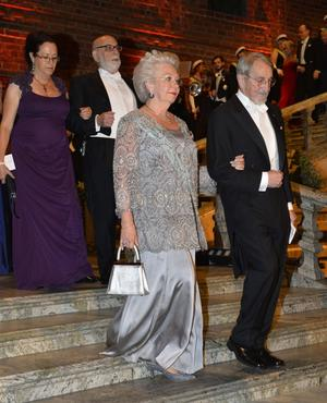 Prinsessan Christina och kemipristagaren Martin Karplus.