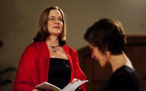 Sopransolisten Helena Ek och dirigenten Lone Larsen, ledare för kören Voces Nordicae.