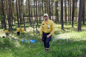 John Granbo ansvarade för brännningen som ska gynna nipsipporna.