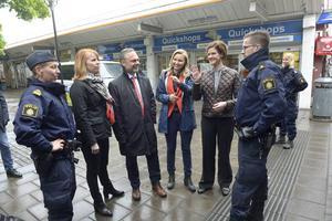 Alliansens partiledare Annie Lööf (C), Jan Björklund (L), Ebba Busch Thor (KD), och Anna Kinberg Batra (M) besöker Stockholmsförorten Husby.