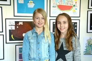 Maja Strandberg och Maja Hjalmarsson går i fyran respektive femman på Hemlingskolan. De har båda varit med och gjort illustrationer för dataspelet.