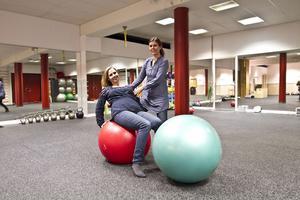 I dag är det fri träning i Söders källa. Sarah Augustsson och Jenny Lidberg tjuvstartade lite för bildens skull.