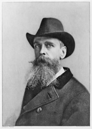 Den engelsfödde konstnären Thomas Moran 1890.