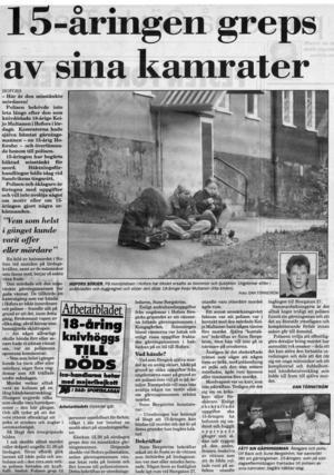 Kamrater hämtade 15-åringen i Kungsgården och transporterade honom till polishuset där han kunde gripas.