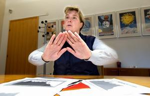 Nu räcker det! Maria Gehlin vill sätta stopp för fler neddragningar inom skolan. Foto:Kjell Jansson
