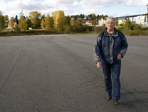 Sten Sandin har många idéer om hur hamnen i Lunde skulle kunna användas.