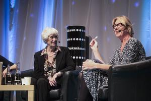 Foto: Leif GustavssonKerstin Ekman och Åsa beckman på bokmässan.