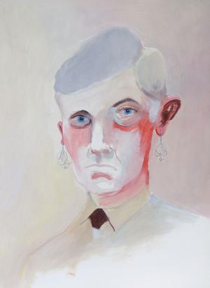 """Dag 92. Ett av de porträtt i olja som Jesper Waldersten gjorde i sitt projekt """"365"""".Foto: Bokförlaget Max Ström"""