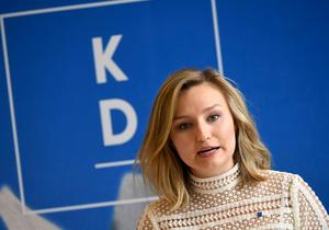 Kristdemokraternas partiledare Ebba Busch Thor. Foto: Pontus Lundahl/TT
