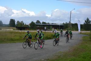 SJ Cycling team, först till Tallbacken.