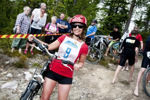Helene Eskilsson är taggad på att cykla andra sträckan i Tännäsklassikern. Fyra kilometer cykling genom hela Tännäs.