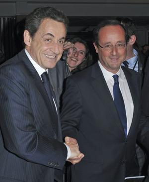 Det franska valet. Det stod i går kväll klart att Sarkozy och Hollande är de kandidater som går vidare till den andra valomgången.