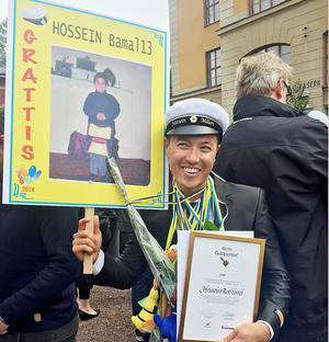 Hossein Rahimi tar studenten i Falun