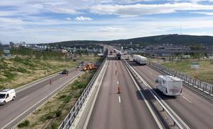 Dygnstrafiken har ökat med 1400 bilar per dygn på Sundsvallsbron under våren 2016.