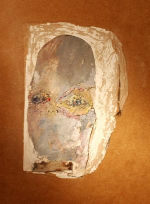 Erland Brand gör ofta porträtt i collage och akvarell